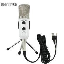 Mk f100tl синий USB 2,0 конденсаторный звук Запись аудио обработка проводной микрофон с подставкой для радио braodcasing KTV караоке