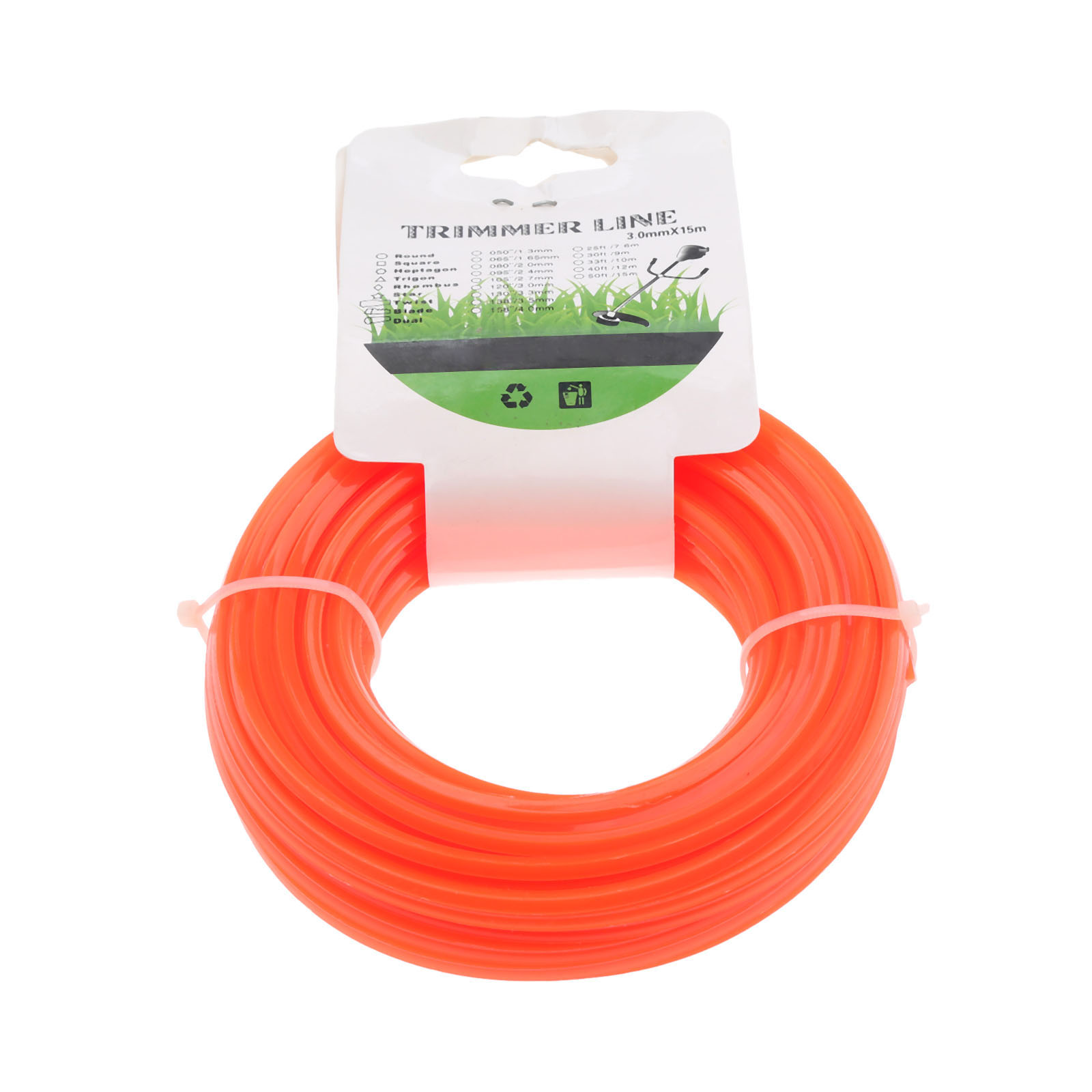DRELD 3mmx15m Nylon Trimmer Line Brush Cutter Spare Parts Garden Cord Wire String Grass Strimmer Line Garden Tool For Lawn Mower in Tool Parts from Tools