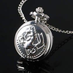 Небольшой мини Размеры серебро Алхимик стальной кварцевые карманные часы Для женщин Для мужчин Дети Цепочки и ожерелья с цепочкой подарок