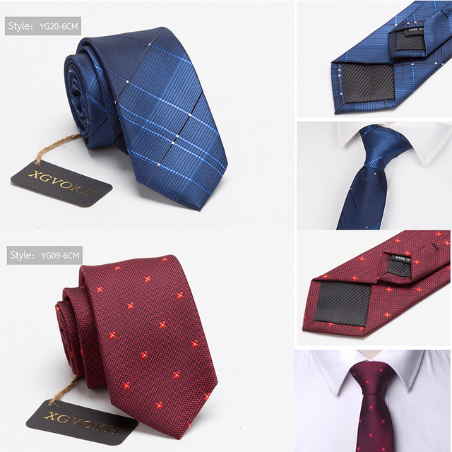 Men ties necktie Men's vestidos business wedding tie Male Dress legame gift gravata England Stripes JACQUARD WOVEN 6cm 4