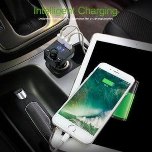Image 5 - Onever Auto FM Transmitter Aux Modulator Bluetooth Bluetooth Verbindung Lautsprecher Car Kit MP3 Player Adapter mit 5V / 4.1a Schnellladung A2DP Funktion Dual USB Auto Ladegerät Freisprecheinrichtung Smart Charging