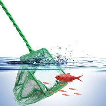Nuovo acquario verde serbatoio di pesce gamberetti quadrati rete da pesca piccola attrezzi da pesca all'aperto manico antiscivolo esca rete da pesca Portablefish
