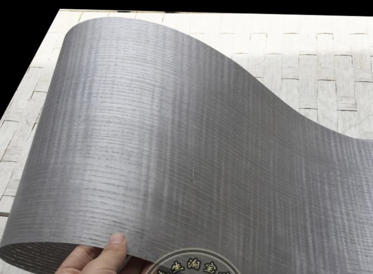 2Pieces/Lot L:2.5Meters  Width:18cm Thickness:0.25mm Light Grey Wood Veneer