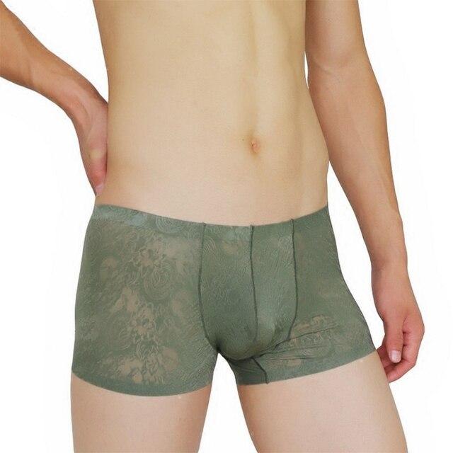 High quality sexy temptation male underwear fashion transparent ultra-thin underwear men perspective lace sexy male underwear