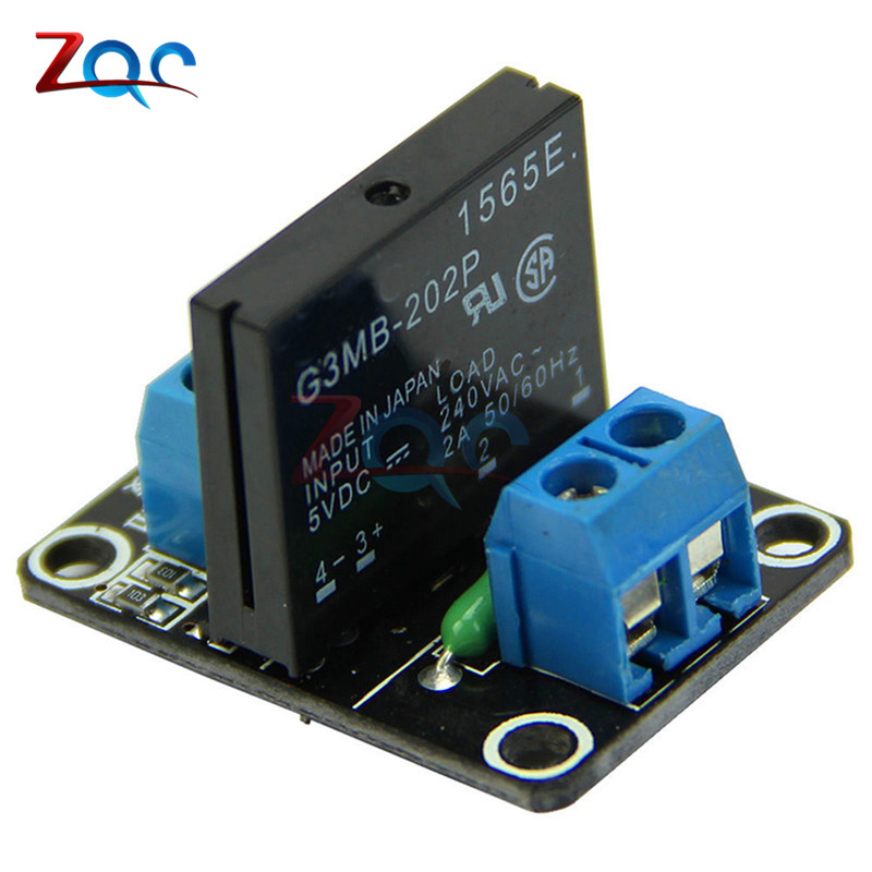 G3MB-202P 5V DC 1 Channel Solid-State Relay Board Module For Arduino High Level Fuse For Arduino SSR G3MB-202P 5v 2 channel ir relay shield expansion board for arduino