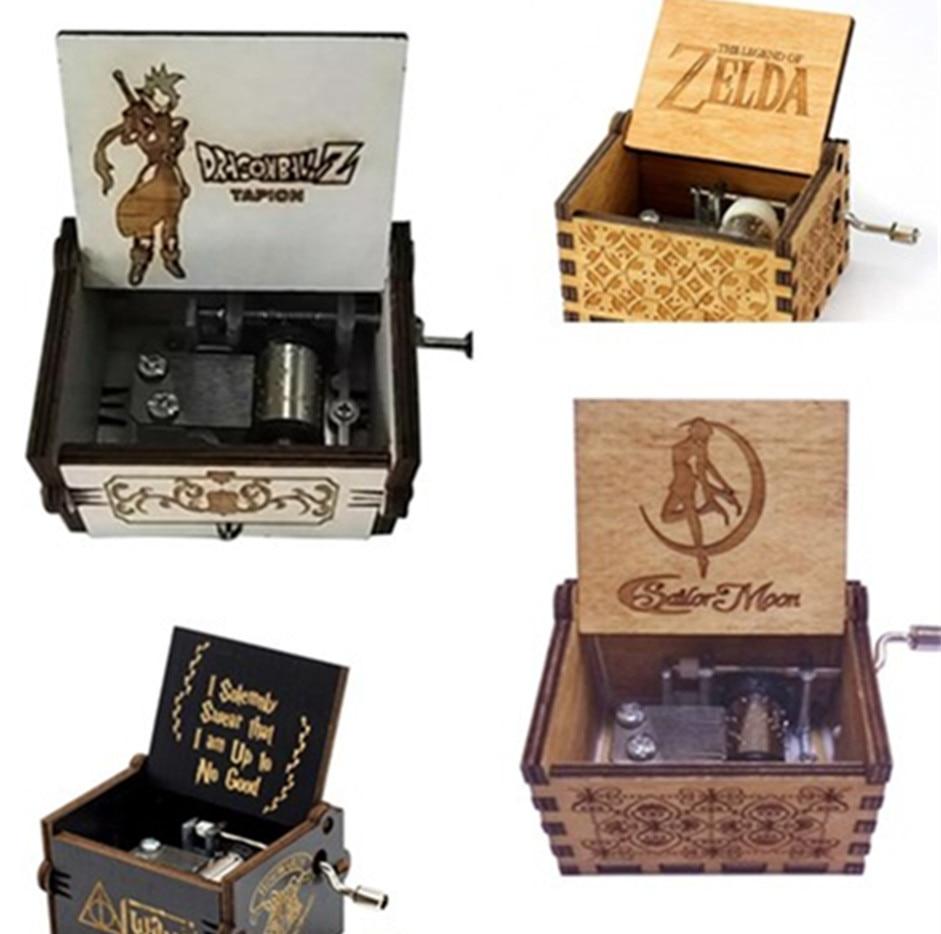 2018 New  Anonymity  Carved Wood Hand Crank  Queen Music Box Zelda Music Box  Children/friends Christmas Gift A Birthday Present