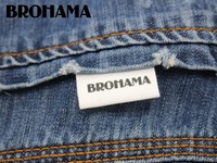 Custom folding labels /custom brand , fabric labels, sewing, your logo, high quality printing (MD002)