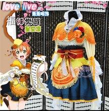 Aşk canlı RIN HOSHIZORA yedi şanslı tanrılar Shichifukujin uyanış cosplay kostüm cadılar bayramı anime elbise ücretsiz kargo
