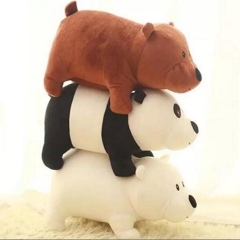 1 st 25cm Vi Bare Björnar Cartoon Bear, grizzlygrå vitbjörn panda fylld plysch leksak docka, docka födelsedagspresent, barn leksak