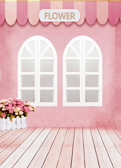 backdrop studio window theme flower cloth