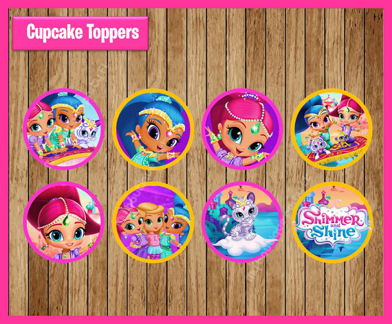 Shimmer And Shine Sticker Party Supplies Boys Girls Birthday Party