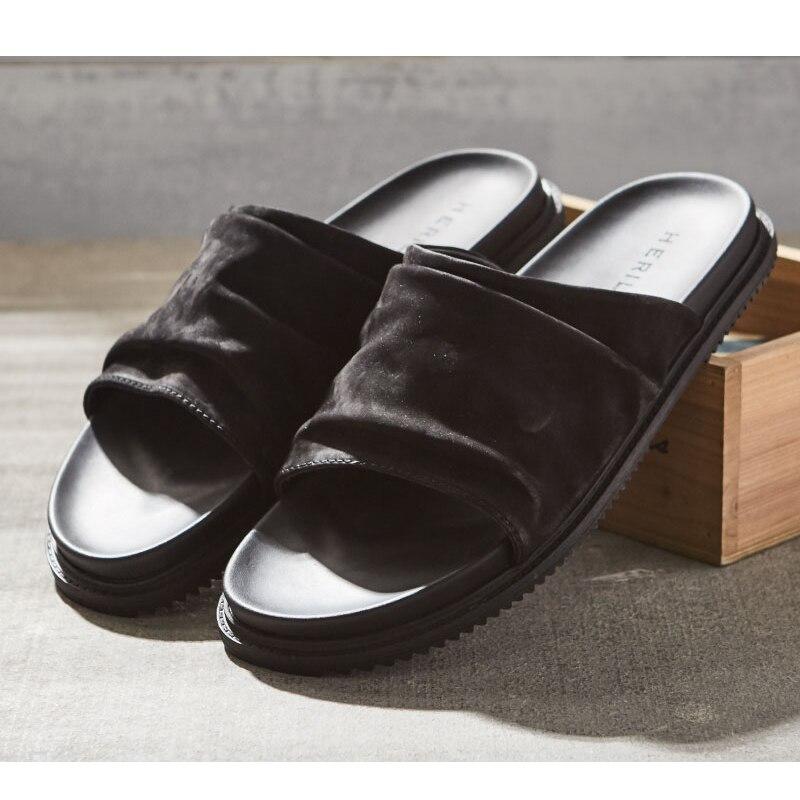 MYCOLEN Degli Uomini Pantofole Casual Nero Scarpe Antiscivolo Presentazioni aziende produttrici giochi Bagno di Alta Qualità di Estate Dei Sandali Suola Morbida Infradito Uomo - 3