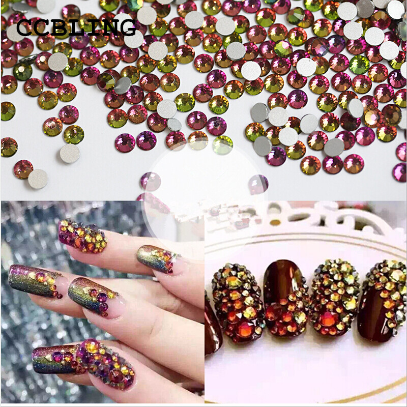Best Rhinestones ss3-ss30 Crystal Rainbow decorations for 3d Nail Art, Flat Back Non Hotfix Glue on 3d Nail Art or diy bead nail tool glass flat back nail art crystal ab glue on non hotfix rhinestones for nails diy nail accessori decorations