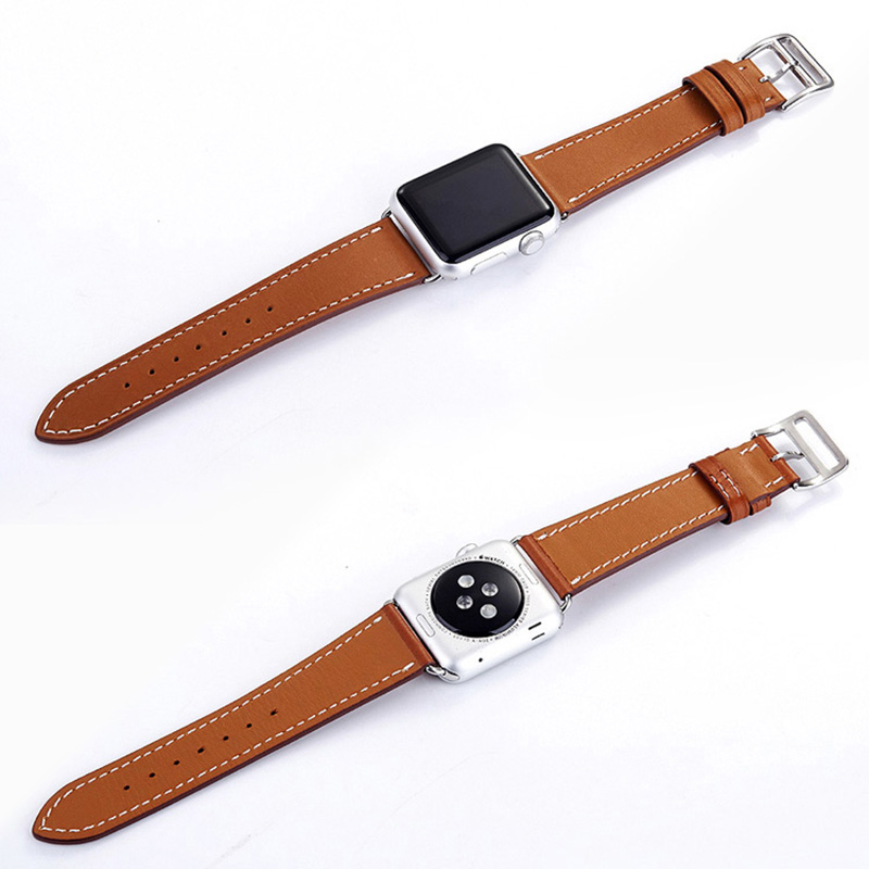 FOHUAS-Series-2-1-Genuine-Leather-Loop-For-Apple-Watch-Band-Double-Tour-42mm-For-Apple (3)
