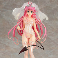 Hot Japan Anime TO LOVE RU Darkness LaLa Underwear Wedding Ver PVC Figures Girls Collection Doll Toys 26cm