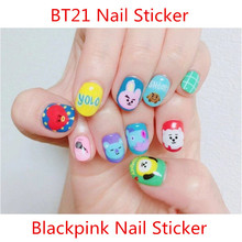 Kpop Bangtan Boys BLACKPINK Cute Nail Sticker Beauty Album F