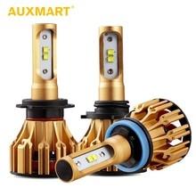 AUXMART T6 H1 H7 H11 9005 9006 светодиодный лампы 6500 K 70 W T6 серии Светодиодная лампа для автомобиля Hi-Lo луч H4 автомобильной SMD фары автомобиля