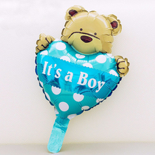 mini Foil Heart bear Helium balloon