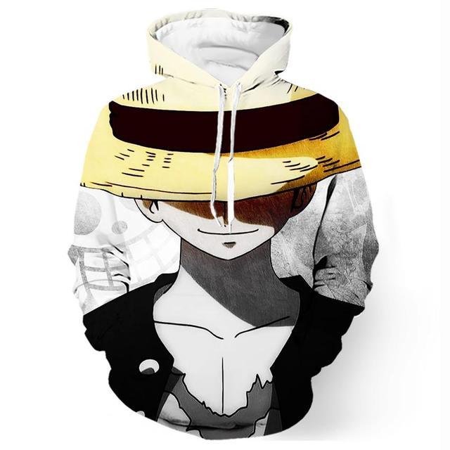 Luffy One Piece Long Sleeve Hoodie