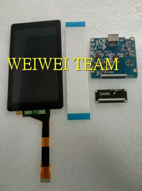 Película protectora de vidrio + módulo LCD 2 k de 5,5 pulgadas pantalla LCD + Placa de controlador HDMI-MIPI para duplicador Wanhao 7