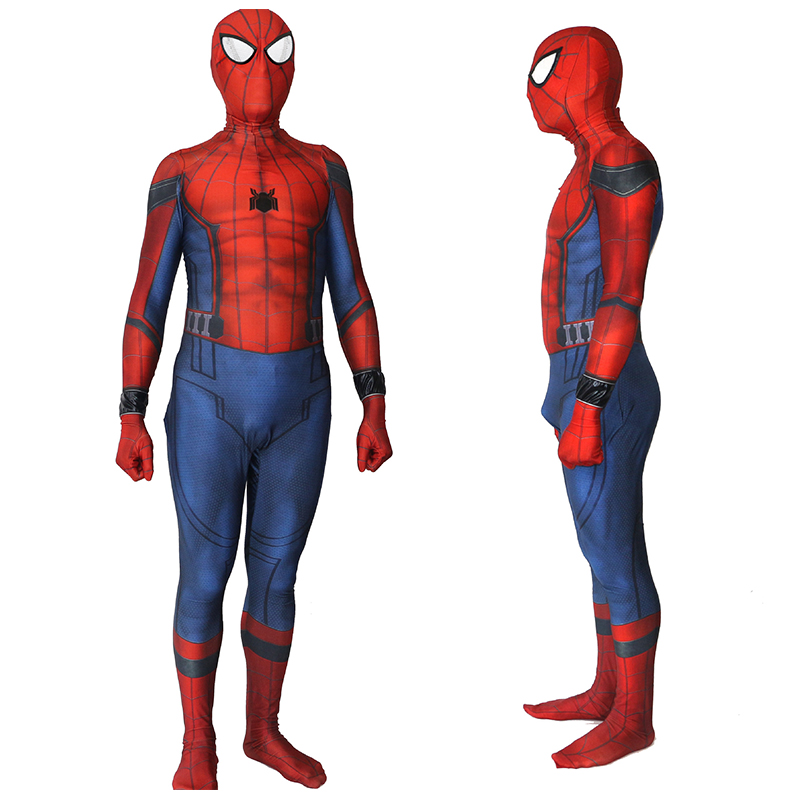 New Movie Spiderman Homecoming Kids/Adult Spiderman 3D Shade Spandex Cosplay Zentai Suit