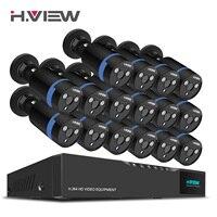 H。ビュー16ch監視システム16 1080 p屋外セキュリティカメラ16ch cctv dvrキットビデオ監視iphoneアンドロイドリモートビュ