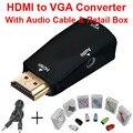 Преобразователь сигнала 1080p HDMI в VGA+аудио. Подходит для PC/TV/Xbox 360/PS3.