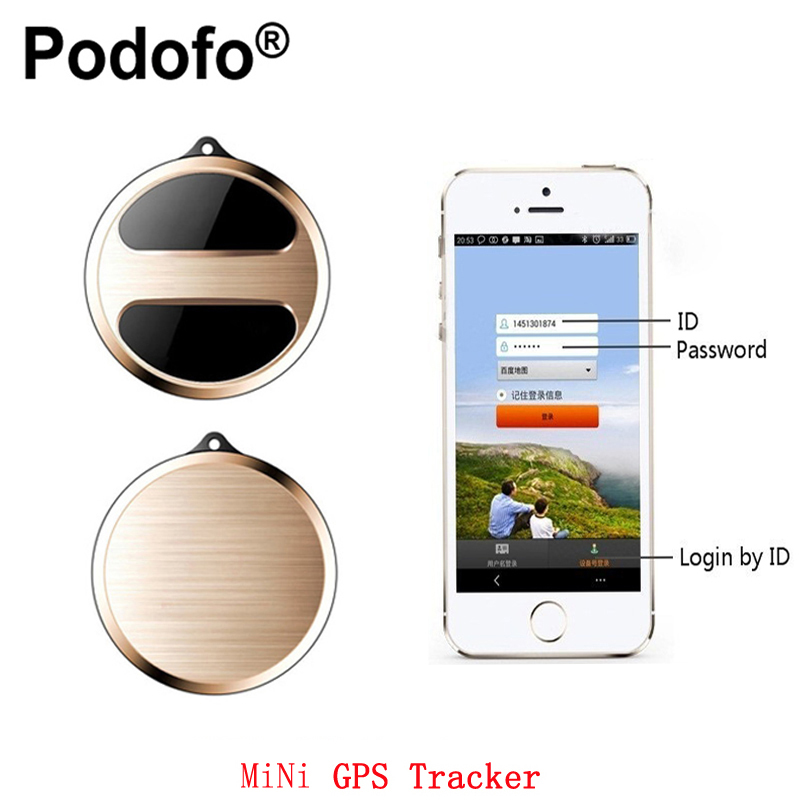 Podofo Mini GPS Micro Tracker GPS Locator for Children Pet Vehicle Tracker Car Bicycle GPS Tracking GSM Alarm with Google Map t8s mini gps tracker portable personal gps trackers locator with google maps sos alarm gsm gprs for kid children pet dog vehicle