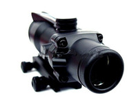 ACOG Type 4x32 rifle scope red dot Optical Fiber Red Cross Sight Scope Black