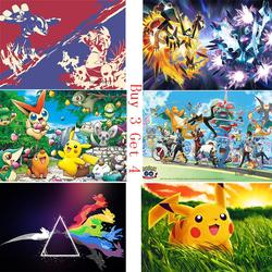 Pokemon Anime manga wallpaper Clear Image Wall Stickers Home Decoration Good Quality Prints White Coated Paper