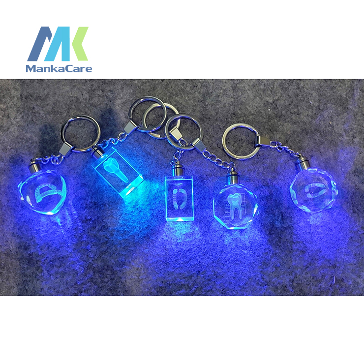 Crystal Internal Sculpture Teeth Keychain Dentist Decoration Key Chains Tooth Model Shape Key Rings Dental Clinic Gift