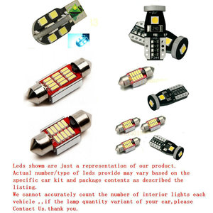 Free Shipping 10Pcs/Lot car-styling Xenon White Canbus PackageKit LED Interior Lights For Audi A4 B7 Bj. 2004-2007