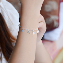 TJP Trendy Bamboo Chain Clover Women Bracelets Jewelry Charm 925 Silver Anklets For Girl Wedding Party Bijou Hot Christmas Gift ковер cleo west