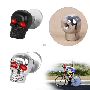 Image 3 - 4PCS Useful Motorcycle Chrome Skull License Plate Frame Bolts Screws Caps Fastener Nuts Bolts Nails Screws INY