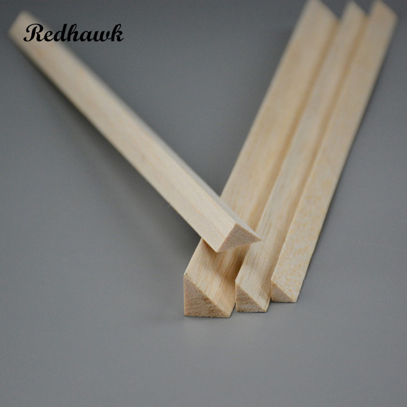 300mm long 10x10/12x12/15x15/20x20mm Balsa Triangular Wood Sticks Strips for airplane/boat model DIY free shipping 1000mm long 2x3 2x4 2x5 2x6 2x8 2x10 2x12 2x15 2x20mm balsa wood sticks strips model balsa wood for airplane model free shipping