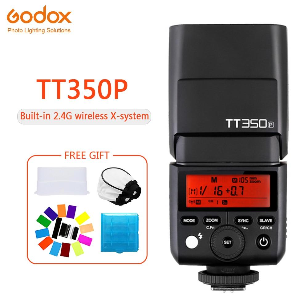 Godox Mini TT350 TT350P Speedlite flash TTL HSS 1/8000 s 2.4G Sans Fil Caméra photographie pour Pentax K70 K-3II K-1 KP K-50 K-S2