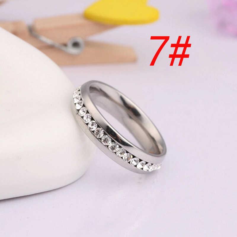 Dovolov Hàng Duy Nhất Crystals Wedding Ring Cho Phụ Nữ Cổ Điển Mini Cubic Zirconia Rose Gold Màu Sắc Nhẫn Đồ Trang Sức A515