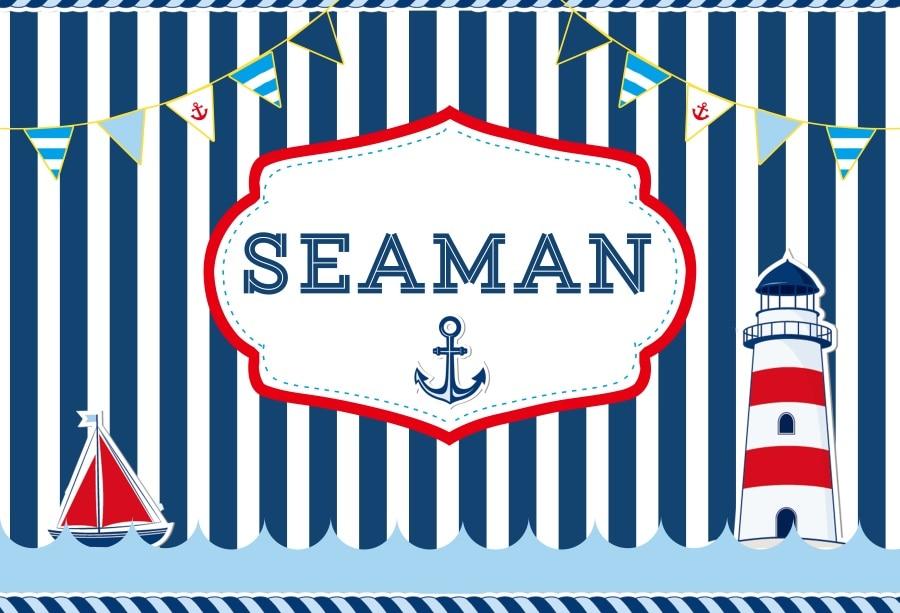 Laeacco बेबी शावर Seaman शब्द - कैमरा और फोटो