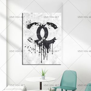 Image 5 - Christmas Gifts Handmade high quality thick knife abstract oil painting Black And White Channel abstract on Canvas Painting