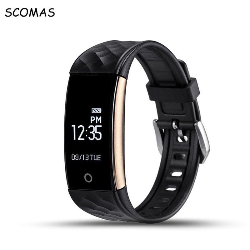 SCOMAS S2 IP67 Waterproof Wristband Bracelet Smart Heart Rate Monitor Activity Fitness Tracker Sports Smartband Watch Wristband
