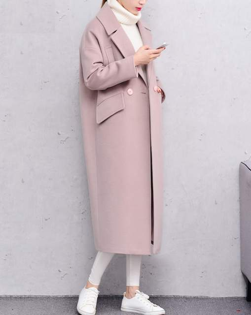 c5d020201c043 X-long Oversized Coat With Pad Lining Warm Thick Casual Overcoat New Women s  Camel Wool