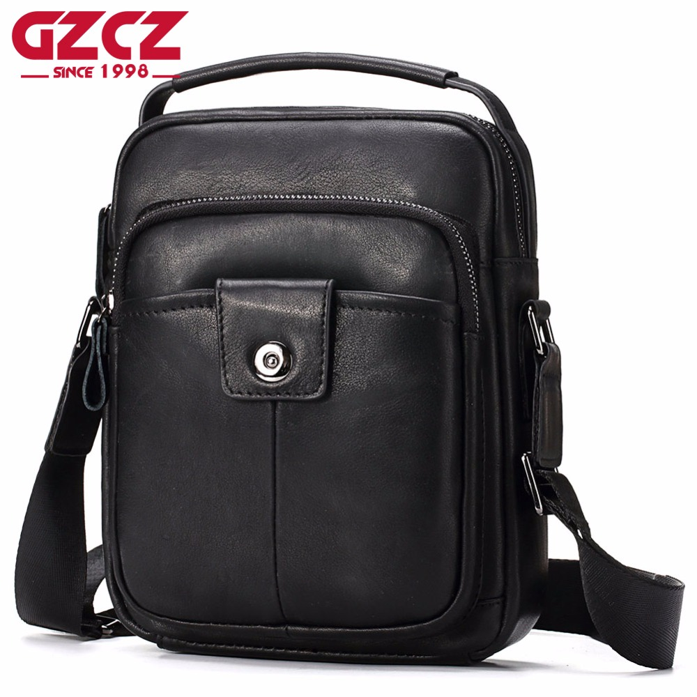 GZCZ Fashion Men Shoulder Bag Genuine Leather Messenger Bag Designer High Quality Famous Brand Business Crossbody Bag For Male padieoe business men s messenger bag famous brand shoulder bags high quality pvc crossbody bag luxury designer handbags for male