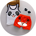 Free Shipping 2pcs/set Newborn Baby Clothing Sets for 7-24M Brand Kids Clothes 100% Cotton Sleeveless Base Panda Shirt +shorts