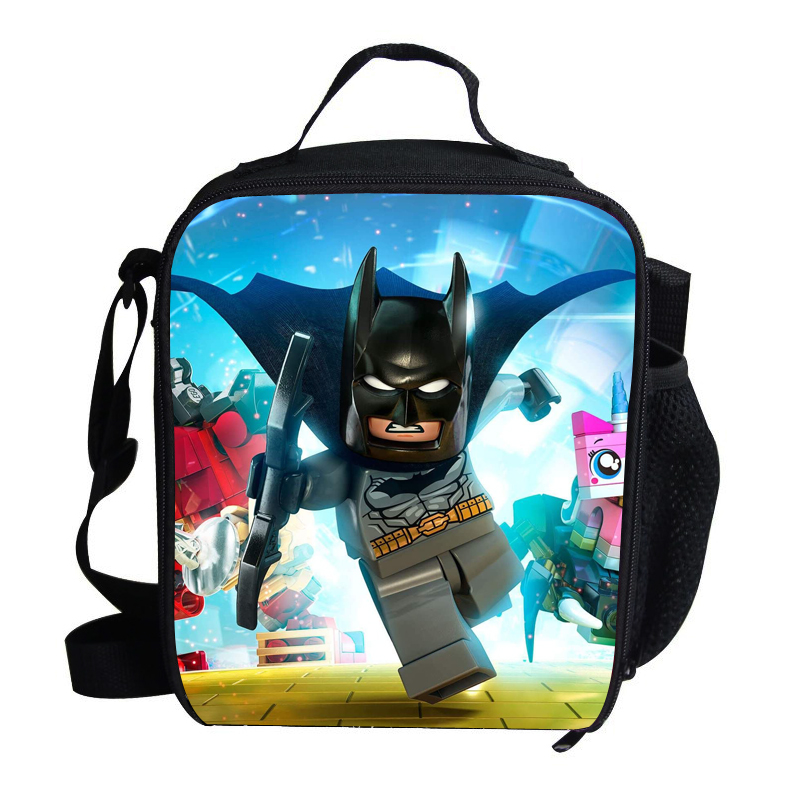 Us 16 49 17 Off Cute Mini Boys Lunch Bag Child Batman Thermal For Printing Cartoon Personalized Kids Bags Age 1 6 In