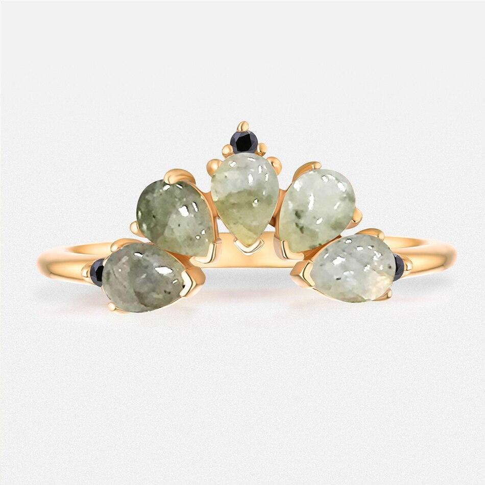 ALLNOEL 2019 Real 925 Sterling Silver Ring For Women 100% Natural Rose Quartz Blue Topaz Labradorite Gemstone Stack Fine Jewelry (11)