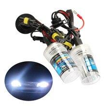 2 pces 4300 k 6000 k 8000 k 10000 k 55 w hid cabeça lâmpada de substituição do carro