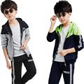 2017 New Fashion Spring Autumn Winter Clothing Pure Cotton Children Clothes Kids Sets Shirt+Pants 2pcs With Hoodies Top Quality