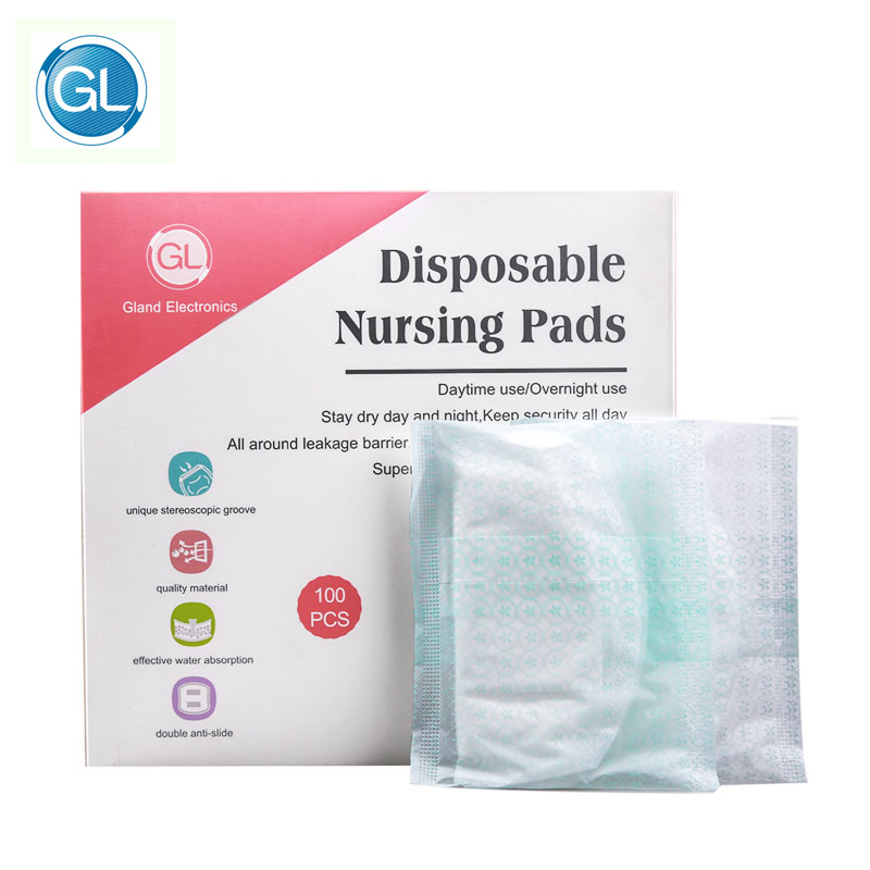GL 100Pcs Cotton Disposable Nursing Pads Breast Pads Breastfeeding Disposable Liners For Nursing Anti-overflow Bra Maternity