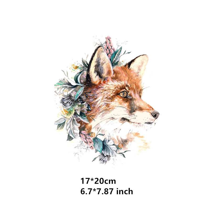 Melancholy  Wolf Iron on Heat Transfer Printing Patches Sticker Washable For T-shirts Clothing DIY Stickers Appliques 2019