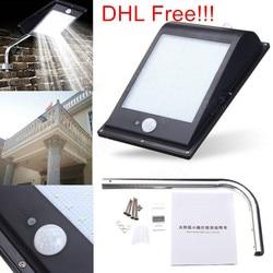 4 teile/los, DHL/Fedex Freies 10 Watt 1000lm SMD 81LED Solar Street Sensor licht 12 Watt Parkplatz Veranda sicherheit Wasserdichte led-außenleuchte